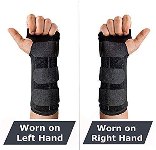 Handgelenkstütze Links Rechts Damen Herren,Einstellbar Bandagen zum Arthritis Karpaltunnelsyndrom Schmerzlinderung Schutzfunktion handbandage Übung Bowling Zeichnung Maus Fitnessstudio (1 Paar)
