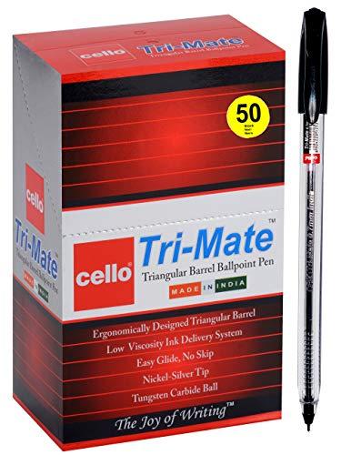 BIC Cello Kugelschreiber Cristal Medium,Strichstärke 0,4 mm, 50 Stück (Blau, Packung mit 50 Stück)