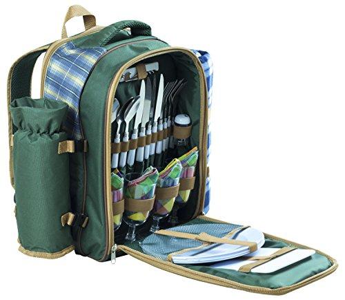 Andes - Sac à dos de pique-nique de luxe - pour 4 personnes - avec sac isotherme