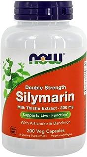 Now Foods Double Strength Silymarin Milk Thistle Extract, 300 mg 200 Veg Capsules