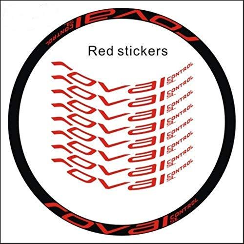 8pics / Set Pegatinas de bicicletas Bicicleta de montaña 29 pulgadas 25 mm Ancho Ancho Rueda de borde MTB RIM Decoración Vinilos Vinilos (Color : Rojo)
