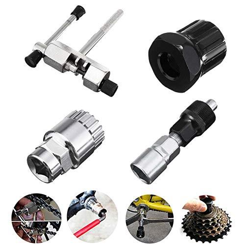Explopur Kit de Herramientas de reparación de Bicicletas - Extractor de manivela Interruptor de Cadena Cassette Extractor de pedalier Kit de Herramientas de reparación MTB de Bicicleta de montaña