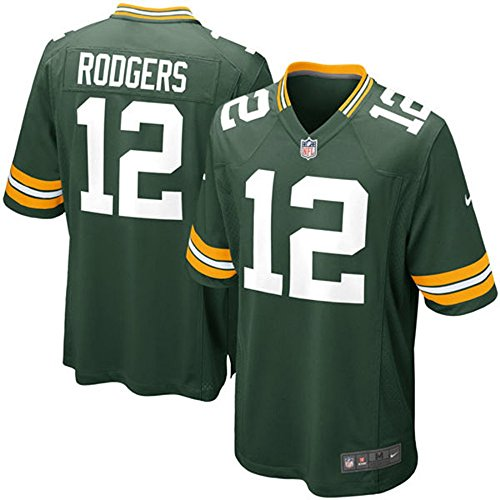 Nike New Onfield Aaron Rodgers Youth Green Bay Packers Green Game Jersey Medium