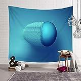 Daesar Tapices Pared,Tapiz Decoracion Patrón de Esfera Poliéster Tapiz Decoracion Grandes Azul,150x150CM