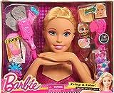 Barbie, Tête à Coiffer et à MaquIller Deluxe, 30 Accessoires Cheveux & MaquIllage, Jouet pour Enfants dès 3 Ans, BAR17
