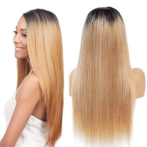 NIUDINNG Ombre Perücken für Frauen Natürliche Echthaar Perücke Glatt Grad 7A Qualität 4x4 Lace Front Wig Virgin Remy Brazilian Human Hair 16 zoll