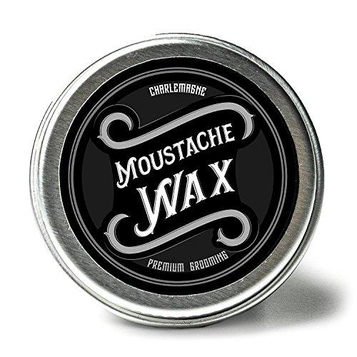 Charlemagne Moustache Wax - Schnurrbart Wachs für Herren - Bartwichse - Aus echtem Bienenwachs & Kokosbutter - Natürliche Inhaltsstoffe - Bartwachs für Schnurrbart und Bart-Pflege - Premium Grooming