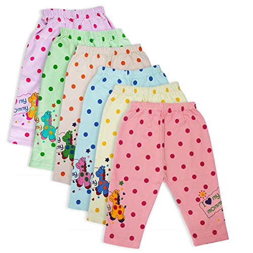 Interpal Baby Cotton Pajamis   Printed Baby Full Length Pants   Baby Sleep Wear   Infant & Toddlers Pants (015K6003&4_Multicolor_09-12 Months Pack of 6)