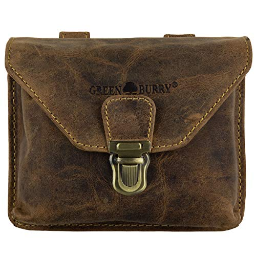 Green Burry Gürteltasche, Leder Vintage Brown