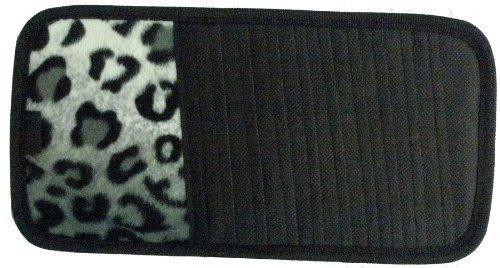 Snow Grey Leopard Animal Print 10 CD/DVD Car Visor Organizer