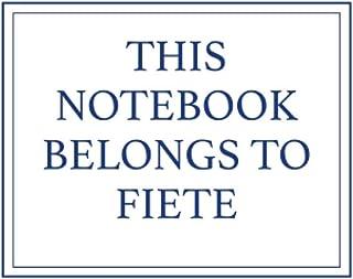 This Notebook Belongs to Fiete