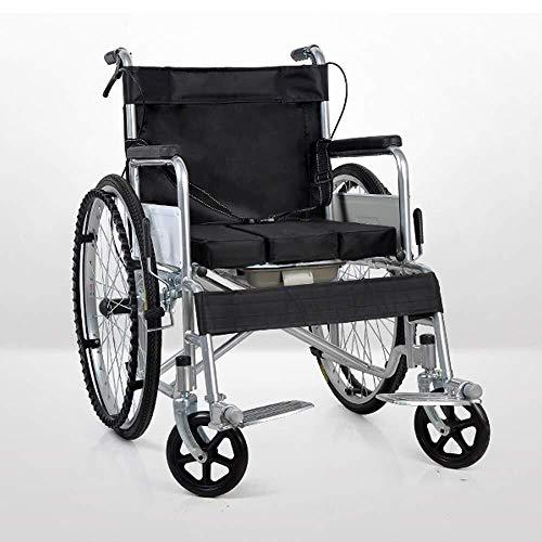 Cómodo y fácil de transportar envejecimiento sillas plegables silla de ruedas turismo, las personas discapacitadas caso de auto-cinturón