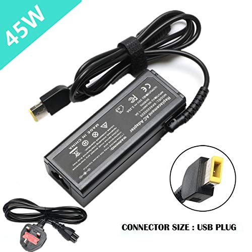 SIKER 20V 2.25A 45W USB Replacement AC adapter for Lenovo ADLX45NCC2A ADLX45NLC2A ADLX45NLC3 ADLX45NLC3A ADLX45NDC3, 45N0295, 36200280+Phone USB Charger