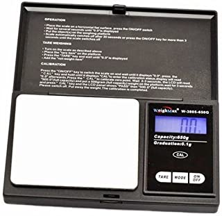 Weighmax Pocket Scale Electronic Digital W-3805 Series 0.1G 1000G Black