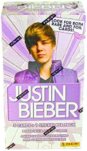 compras de moda online Justin Bieber Trading Cards Box (9 Packs) by by by Panini by Panini  80% de descuento