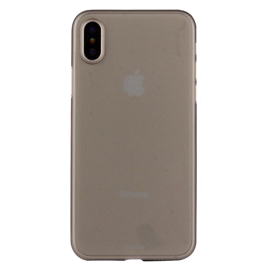 襲撃圧倒的シネウィYMF iPhone X 用PP保護バックカバーケース (Color : Grey)