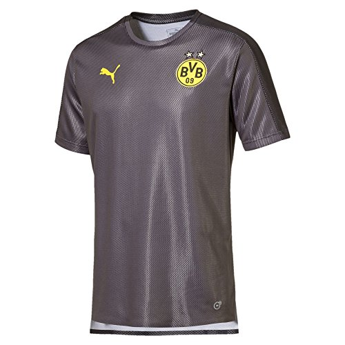 PUMA Camiseta para Hombre con Logotipo del Borussia Dortmund, Hombre, Jersey, 753354, Negro Asfalto, Large