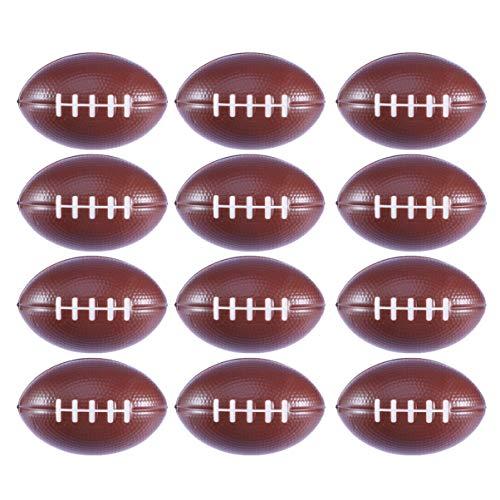 BESPORTBLE 12 Stück 9 * 5 7 cm Fußballspielzeug Rugbyball Pu Softball Spielzeug Sport Bälle für Kinder Spielen (Rugby)