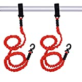 Adjustable Kayak Safety Rod Leash Fishing Rod Paddle Leash (Red 2 pcs...