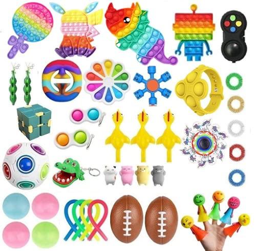 TAIPPAN Fidget Toys, 44 Piezas Pop Bubble Fidget Sensory Toys, Juguetes para aliviar el estrés y ansiolíticos para niños y Adultos, Regalos de cumpleaños, recompensas, Navidad