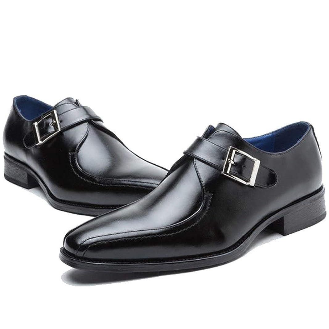 極めて故意に目的ビジネスシューズ メンズ レザーシューズ 紳士靴 革靴 モンクストラップ 通気性