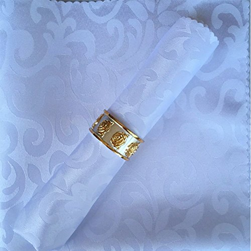l'hôtel tissu tissu serviette western - style plateau square fleur serviette cloth 48 * 48cm 1 bloc crochet,blanc, blanc,48 * 48
