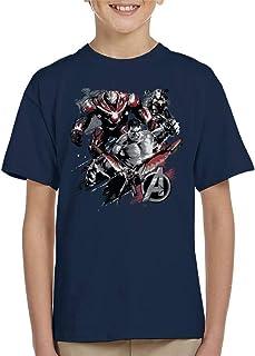 Marvel Avengers Infinity War Hulk Falcon War Machine Montage Kid's T-Shirt