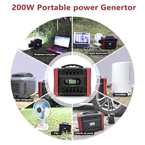UKing 222Wh / 60000mAh Generador de Energía Generador Portátil Solar con Inversor DC/AC Cargado por el Panel Solar/Toma de Pared Camping al Aire Libre Viajes Respaldo de Emergencia