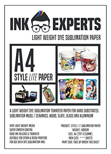 Ink Experts, Subli-Style-LITE-Sublimationspapier, DIN A4, 100 g/m² 100 Sheets
