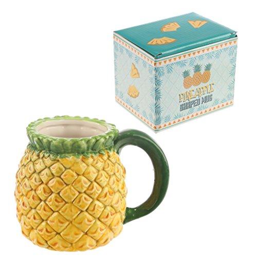 Tazza mug colazione in ceramica a forma di ANANAS