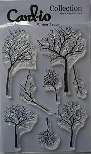 Card-io Clear Stamp Set Winter Trees Set Of 8 Stamps