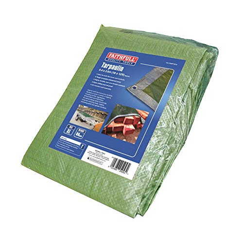 Faithfull FAITARP1812 Tarpaulin, Green/Silver