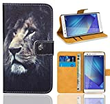 Huawei Honor 7 Handy Tasche, FoneExpert® Wallet Hülle Flip Cover Hüllen Etui Ledertasche Lederhülle Premium Schutzhülle für Huawei Honor 7 (Pattern 4)