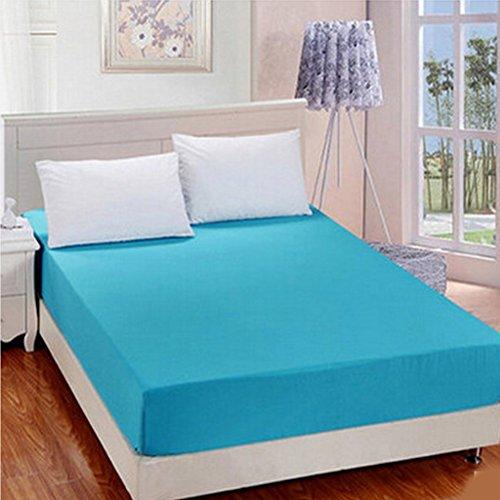 Eastery Hoeslaken, katoen, polyester, beddenlaken, fijnste bedpadbescherming, eenvoudige stijl, dik, voor enkele dubbele koning en Super King beige, 180 cm x 200 cm