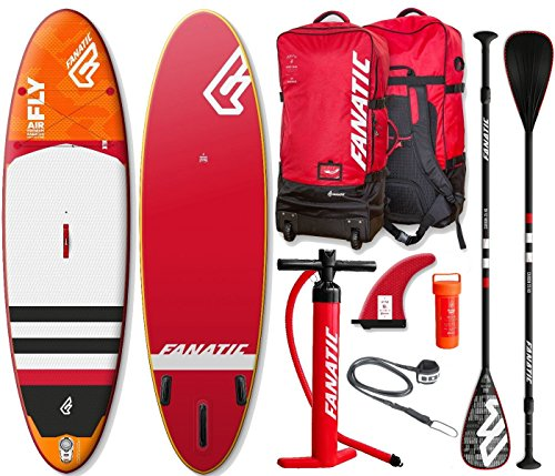 Fanatic Fly Air Premium 10.8 inflatable SUP Windsurf Stand up Paddle Board Komplett Set