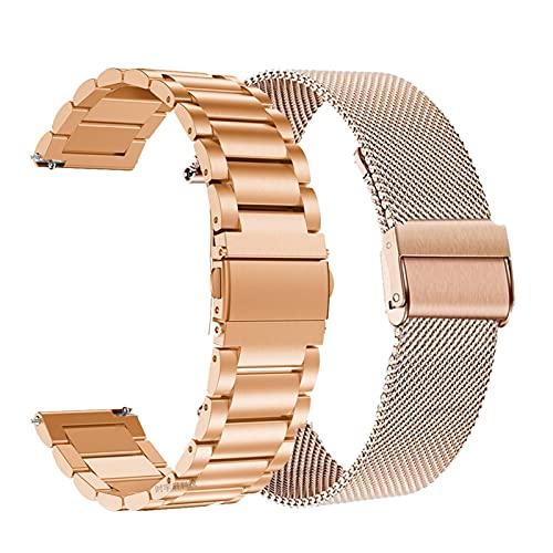 WQAZ Pulsera de Moda para Hombre Reloj de Correa metálica GT / GT2 46mm 2 Pulsera de Banda Inteligente Correas inoxidables Pulseras Correa Fácil de Ajustar la Longitud de la muñeca de Monta
