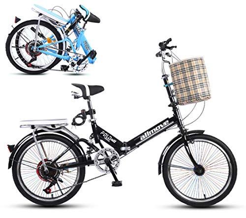 20 Pulgadas Plegable Bicicleta Trabajo luz de Las Mujeres Adulto Adulto Ultra Ligero Variable Velocidad portátil Adulto pequeño Estudiante Masculino Bicicleta Plegable Portador Bicicleta Bicicleta