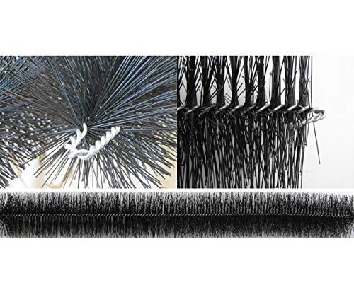 Dachrinnenbürste 10 Meter Ø 15cm, inkl. 6 Sicherungsklammern gegen Sturm und Wind