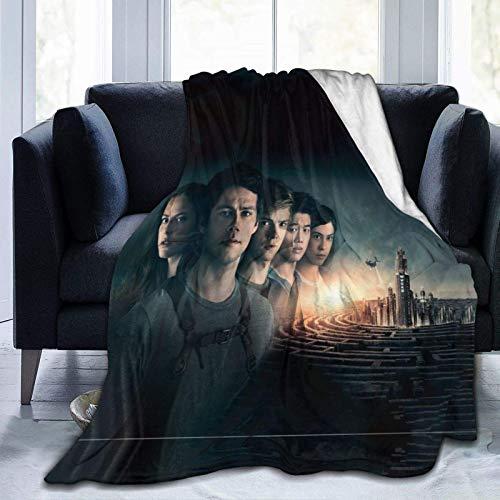 The Maze Runner Weiche und warme Überwurfdecke Plüsch Bett Couch Wohnzimmer Fleecedecke 127 x 101 x 152 x 152 x 202 x 152 cm