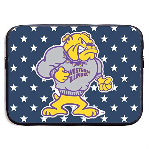 Western Illinois Leathernecks Laptop Sleeve Case Protective Bag Water-Resistant Neoprene Notebook Computer Pocket Tablet Briefcase Carrying Bag/Pouch Skin Cover for Netbooks 13 inch