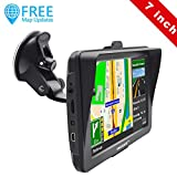 AWESAFE Sat Nav, Car GPS Navigation System 7 inch 8GB 256MB Sat Navs for Cars Trucks Satellite Navigator Device with Sunshade