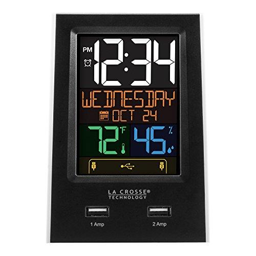 La Crosse Technology C86224 Dual USB Charging Alarm with nap Timer, Black