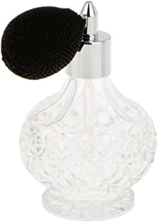 BAOBLADE Vintage Carved Short Spray Glass Empty Refillable Crystal Perfume Bottle with Spray 100ml Home Decorative Bottle