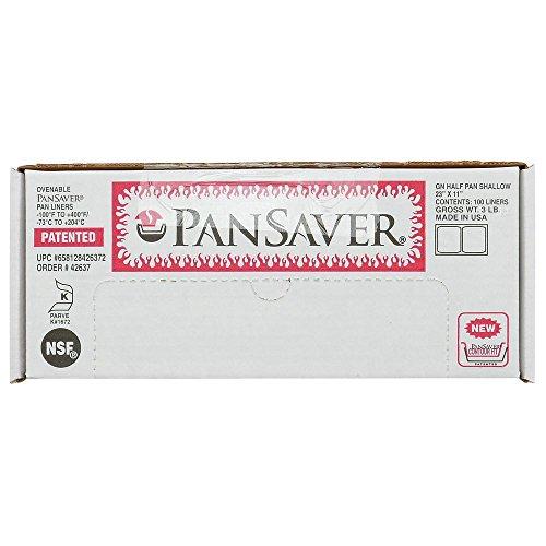"PanSaver Monolyn 1/2 Size Steam Table Pan Liner Clear Plastic - 2 1/2""D 100 Per Case"