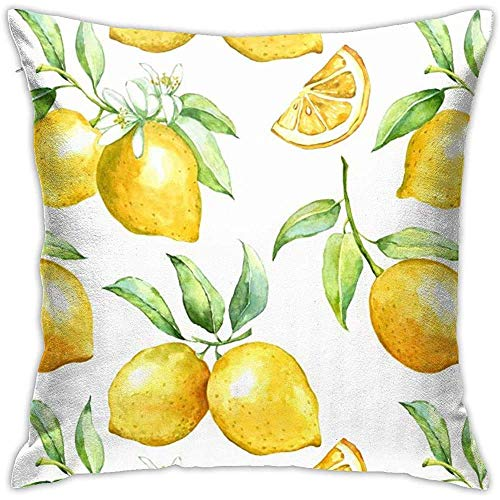 Throw Pillow Covers Lemon Cushion Cover Soft Polyester Square Throw Pillow Case 45x45 cm