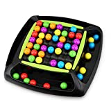 AOLIGE Rainbow Bead Game for Kids Puzzle Magic Chess Board Game Rainbow Ball Matching Game Adult Family Toy Set
