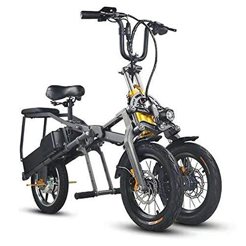 Bicicleta Eléctrica For Adultos 14'' Bicicleta Eléctricas de Montaña 250/350W Ebike Con Batería de Litio Extraíble Y Cargador de Batería Máxima Distancia de Conducción 80Km Velocidades de Hasta 35Km/H
