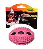 bubimex Rugbyball Crunchies aus TPR für Hunde, 10 cm