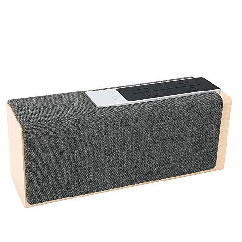 Jahrgang Bluetooth Lautsprecher, Hölzern 3-5 Std(80% Volumen) Wiedergabe Musik Zeit Mit 5 Watt*2 Klar Stereo Klang