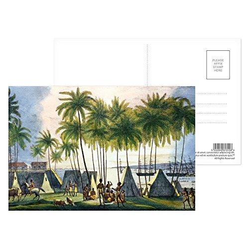 Port of Hanarourou in the Sandwich Islands,.. - Postkarten (8er-Packung) - 15,2x10,2 cm - Beste Qualität - Standardgröße
